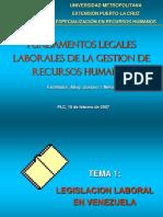 Fundamentos Legales Laborales de La Gestion de Recursos Humanos