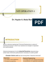 Introduction to Unit Operation
