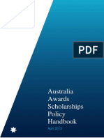 Australia Awards Scholarships Policy Handbook April 2013