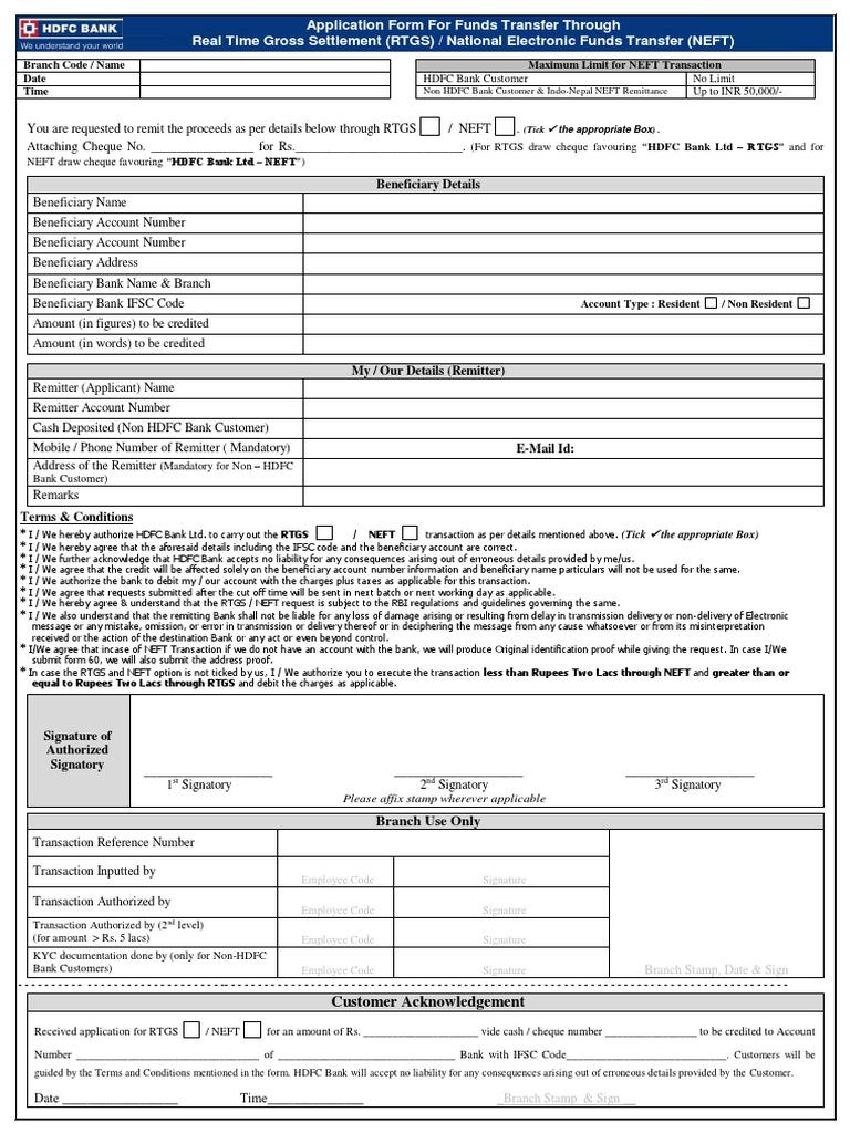 Sbi rtgs form pdf 2019