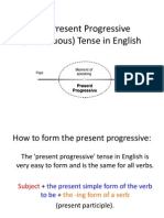 LESO English Present Progressive Tense