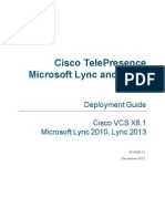 Cisco VCS Microsoft Lync Deployment Guide X8 1