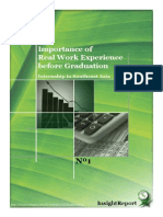 Importance of Real Work Experience Before Graduation