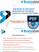 Case Study for web based application for managing system for Doctors and Clinics