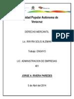 DERECHO El Comercio Electronico ENSAYO