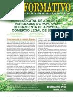 Huella digital de ADN de las variedades de papa
