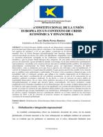 EL RETO CONSTITUCIONAL DE LA UNIÓN EUROPEA EN UN CONTEXTO DE CRISIS ECONÓMICA Y FINANCIERA