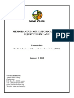Save Lamu TJRC Memo