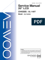 Daewoo Dlt-20w2 Chassis Sl-140t Sm