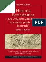 Historia Ecclesiastica (de Origine Schismatico Ecclesiae Papisticae Bicornis) - Newton, Isaac