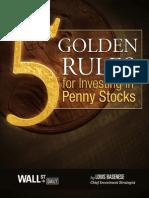 5 golden rules for Penny Stocks
