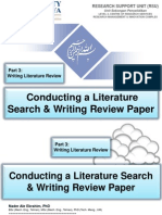 Conducting a Literature Search & Writing Review Paper,  Part 3