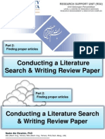 Conducting a Literature Search & Writing Review Paper, Part 2