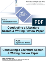 Conducting a Literature Search & Writing Review Paper, Part 1