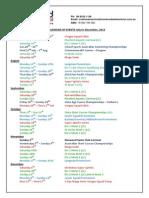 Squad Event Calendar July to Dec 2014
