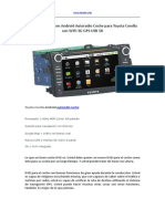 Encontrar Un Buen Android Autoradio Coche Para Toyota Corolla Con WIFI 3G GPS USB SD
