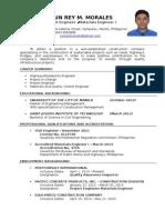 Curriculum Vitae Jun Rey M. Morales