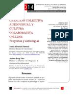 Creacion Colectiva Audiovisual y Cultura Colaborativa on Line Proyectos y Estrategias