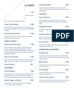 Cravings Fraser Place Menu 2014