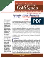 IACIU Policy Brief No. 3 FRENCH July September 2014
