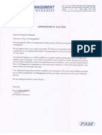 Appointment Letter of Pace Air Management