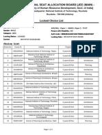 Final Preference List JEE (Main)