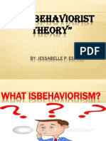 The Behaviorist Theory Masters Report
