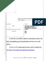 Sample Opposition to Motion to Enforce Settlement Agreement in California