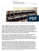 220V DC System at Thermal Power Station
