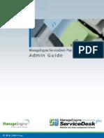 ManageEngine ServiceDeskPlus 8 Help AdminGuide