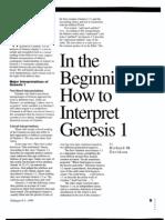 How to Interpret Genesis1