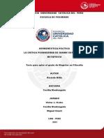 Milla Ricardo Hermeneutica Politica