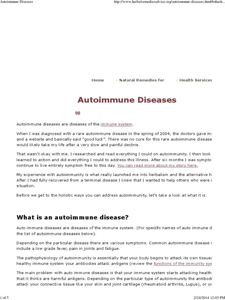 autoimmune diseases | autoimmunity | autoimmune disease