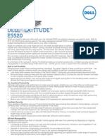 Latitude e5520 Spec Sheet