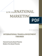 INTERNATIONAL TRADE & INVESTMENT THEORIES
