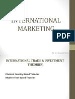 INTERNATIONAL TRADE & INVESTMENT THEORIES