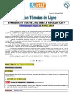 Rapport Temoins de Ligne Avril 2014