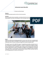 Monthly Achievements Case Study - Seychelles Marine Expedition May 2014