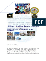 Military Calling Cards. Office for Sgt Steven Herny