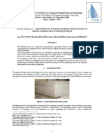 SOFIE PROJECT - TEST RESULTS ON THE LATERAL RESISTANCE OF CROSS-LAMINATED WOODEN PANELS