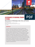 Governance of Regional Transit Systems