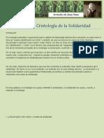 13. Hacia Una Cristología de La Solidaridad