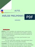 APR - Análise Preliminar de Risco