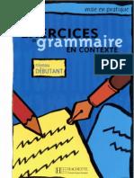 Exercices Grammaire en Contexte