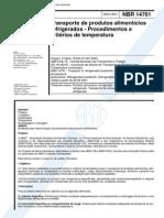 NBR 14701 - Transporte de produtos alimenticios refrigerados - Procedimentos e criterios de tempe.pdf