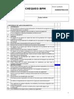 Lista de Chequeo Para Auditoría BPM