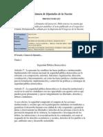 Proyecto-regimen de Seguridad Publica Democratica.