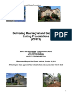 Delivering Meaningful and Successful Listing Presentations1