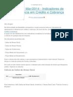 Newsletter Mar-2014 - Indicadores de Inadimplência Em Crédito e Cobrança