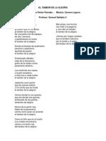 El Tambor de La Alegria_Letra_Samuel Saldaña